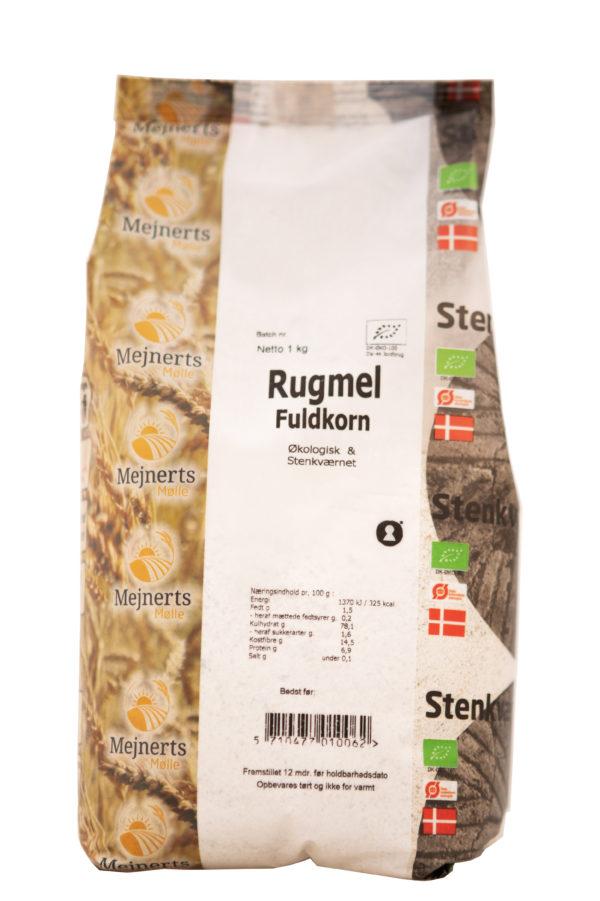 Rugmel Fuldkorn Økologisk fra Mejnerts Mølle
